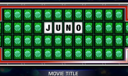 "Spin & Solve board with the Movie Title, ""Juno""."