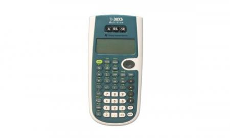 The image is of the TI-30 scientific talking calculator.