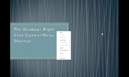 Image of a right click context menu