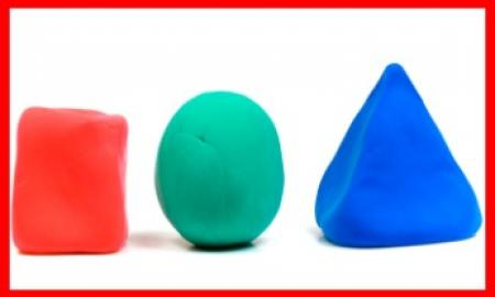 3-dimensional playdoh shapes