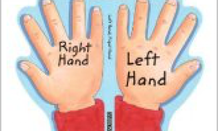 """Two hands labeled """"right hand"""" and """"left hand."""