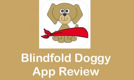 "Blindfold Doggy logo and text, ""Blindfold Doggy App Review"""