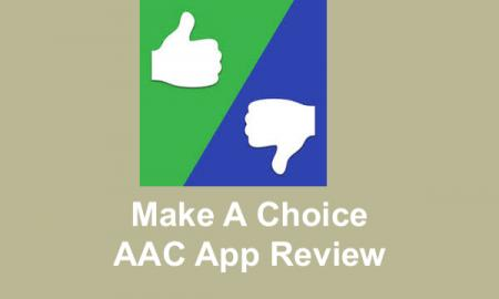 "Logo and text, ""Make a Choice AAC App Review"""