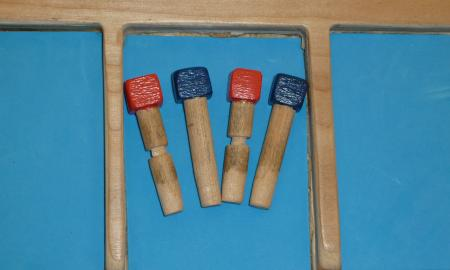 Cribbage pegs