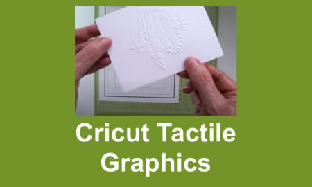 """Image of hands holding an embossed fish tactile graphic with text, """"Circut Tactile Graphics"""""""