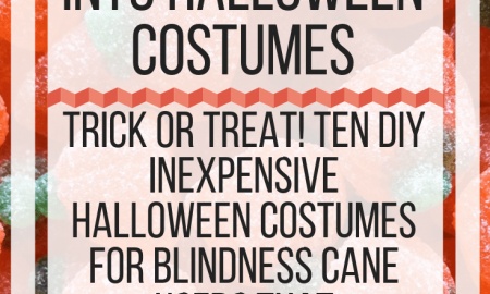 Incorporating Blindness canes into Halloween Costumes. www.veroniiiica.com