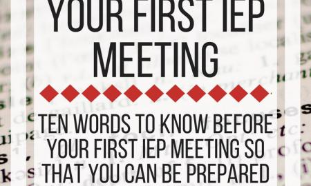 Ten words to know before your first IEP meeting. www.veroniiiica.com