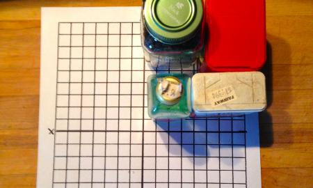 Spice Jars on Graph Paper