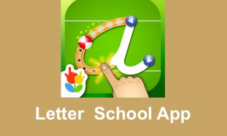 "Letter School app logo and text, ""Letter School App"""