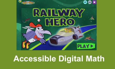"Screenshot of Railway hero home screen with text, ""Accessible Digital math"""