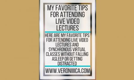 My favorite tips for attending live video lectures. www.veroniiiica.com