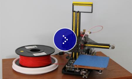 Image of a printer that is printing with Filament.