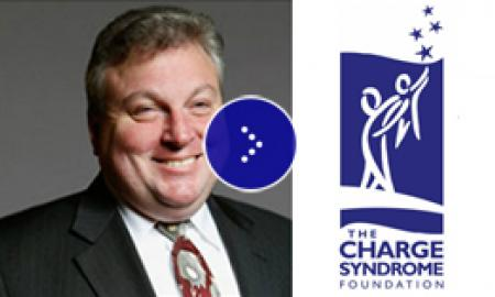 Image of CHARGE Foundation logo with Mark Richert.
