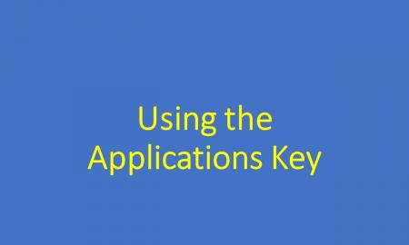 Graphic of blog title text: Using the Applications Key