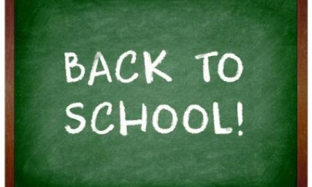 Chalkboard with text: Back to School!