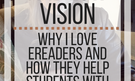 eReaders and Low Vision: Why I love eReaders and how they help students with print disabilities. www.veroniiica.org