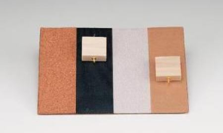 A friction board with different textures to demonstrate friction