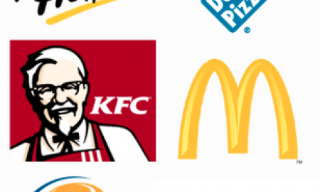 Pizza Hut, Domino's, KFC, McDonald's, Burger King and Subway logos