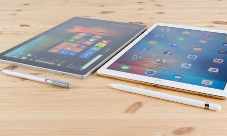 iPad & Surface side by side