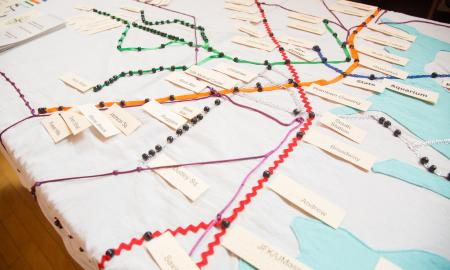 Tactile subway map