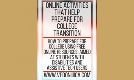 Online Activities that help prepare for college transition. www.veroniiiica.com