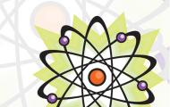 The image is of the Basic Science Tactile Graphics cover - an atom