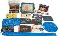This image is of the contents of the APH Sense of Science: Astronomy Kit