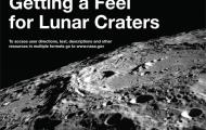 The image is of the Moon's surface on the cover of the book.