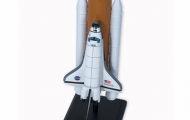The image is of the Space Shuttle Model