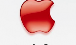 """Red Apple logo and text:  """"Apple Care Protection Plan"""""""