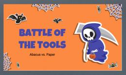 Battle of the Tools Abacus vs. Paper cover page