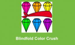 """Blindfold Color Crush logo and text, """"Blindfold Color Crush"""""""