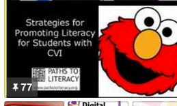 Collage of Strategies for Promoting Literacy for Students with CVI