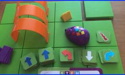 Photo of Code and Go Activity Set with Robot mouse, tunnels, modified arrow cards, board, activity cards, etc.