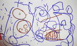 Drawing by 5-year-old girl with CVI