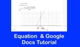 "Screenshot of Equatio equation and text, "" Equations  and Google Docs tutorial.u"