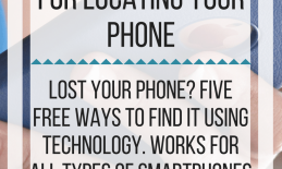 5 Free ways to use technology for locating your phone. www.veroniiiica.com