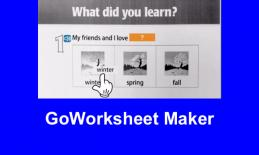 Screenshot of a simple GoWorksheet Maker worksheet with marked up Drag and Drop question.
