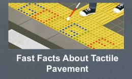 "Screenshot of Google's Seiichi Miyake celebration GIF and text, ""Fast Facts about Tactile Pavement""."