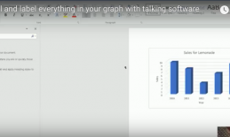 Screenshot from attached video showing Excel spreadsheet with labeled Sales for Lemonade bar chart.