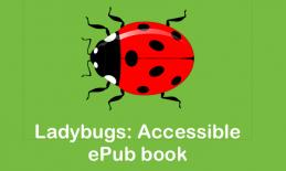 "Ladybug image and text, ""Ladybugs: Accessible ePub Book"""