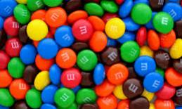 Colorful M & M candies