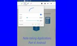 "Screenshot of CamScanner app with text, ""Note-taking Applications Part 4: Android"""