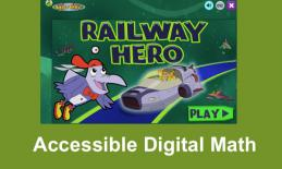 """Screenshot of Railway hero home screen with text, """"Accessible Digital math"""""""