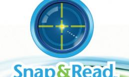 Snap and Read LOGO text is Snap and Read in front of a compass
