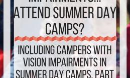 How do people with vision impairments. . . attend summer day camps? www.veroniiica.com