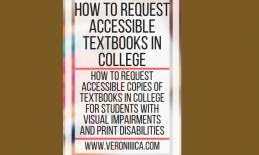 Graphic: How to Request Accessible textbooks in college. www.veroniiiica.com