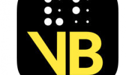 Image of Visual Brailler app logo: VB in braille and print text.
