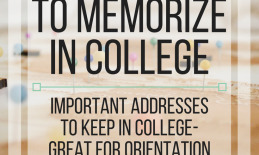 15 Addresses to memorize in college: Important addresses to keep in college - great for O&M Instruction!  www.veroniiica.com