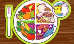 A picture of a plate of healthy food.